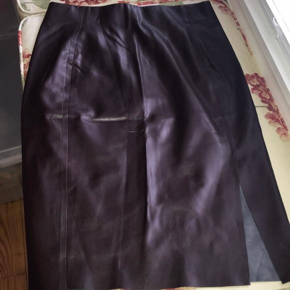 LOFT Dresses & Skirts - Loft leather skirt